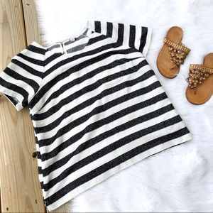 Merona Striped Short Sleeve Box Blouse